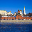Moscow Kremlin in winter — Foto Stock