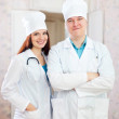Stock Photo: Portrait of friendly doctors in clinic