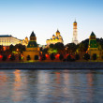 Moscow Kremlin in summer sunset — Stock Photo #27491395