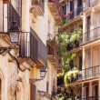Stock Photo: Picturesque houses of Barri Gotic