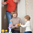 Mother and baby plays with toys — Stock Photo #27491831