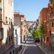 Stock Photo: Mountainous street in Badalona, Catalonia