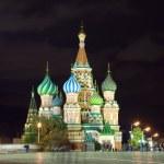 gece Kızıl meydan. Moscow, Rusya Federasyonu — Stok fotoğraf