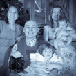 Christmas portrait of happy family — Stock Photo #27493445