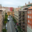 Stock Photo: View of old european city. Madrid