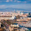 View of Barcelona city with Port Vell  — Stock Photo