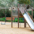 playground area with benches — Stock Photo
