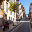Stock Photo: Hilly street in Badalona, Spain