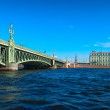 Stock Photo: View of St. Petersburg. Trinity Bridge