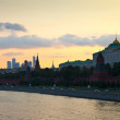 Moscow Kremlin in summer sunset. Russia — Stock Photo #27494601