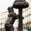 Stock Photo: Bear and Madrono Tree at Puertdel Sol. Madrid