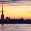 Peter and Paul Fortress in summer morning — Stock Photo