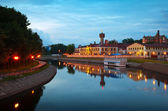 Historical district of Ivanovo in evening — Stock Photo