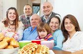 Happy three generations family — Stock Photo