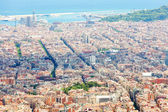 Top view of eixample district in Barcelona — Stock Photo