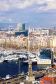 Aerial view of old part of Barcelona — Stock Photo