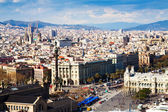 View of Barcelona city from port — Stock Photo
