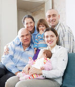 Three generations family in home — Stock Photo