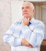 Wistful grizzled man — Stock Photo