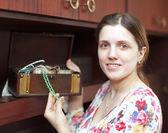 Portrait of woman with jewelry — Stock Photo