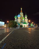 Intercession Cathedral in night. Moscow, Russia — Stock Photo