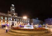 Night view of Puerta del Sol — Stock fotografie