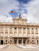 Madrid. Main facade of Royal Palace — Stock Photo