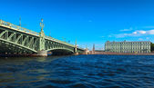 View of St. Petersburg. Trinity Bridge — Stock Photo