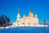 Uspenskiy cathedral at Vladimir in winter — Stok fotoğraf