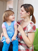 Woman scolds her child — Stock Photo