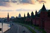 Moscow Kremlin in summer sunset — Stock Photo