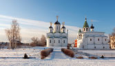 Spasskiy monastery at Murom in winter — Stock Photo