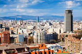 Barcelona cityscape from Montjuic. Catalonia — Stock Photo