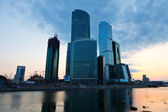 Moscow City buildings summer morning — Stock Photo