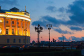 Senatskaya Square at sunset — Stock Photo