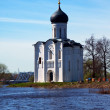 Church of Intercession on River Nerl in flood — Stock Photo #28693013