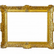 Gold picture frame. Isolated over white — Stock Photo #28693189