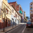 Stock Photo: Hilly street in Badalona, Catalonia