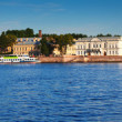 Panoramic view of Vasilyevsky Island in summer — Stock Photo