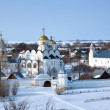 Pokrovsky monastery  at Suzdal in winter — Foto Stock