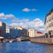 View of St. Petersburg. Moyka River — Stock Photo
