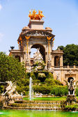 Fountain Cascada at Parc de la Ciutadella in sunny day — Stock Photo