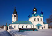 Church at Gorokhovets in winter. Russia — Стоковое фото