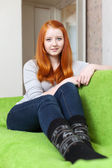 Ordinary red-haired girl — Stock Photo