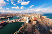 Top view of Port Vell and Barceloneta — Stock Photo