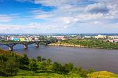 Molitovsky 橋とニジニ ・ ノヴゴロドのビュー — ストック写真