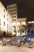 Evening view of Placa del Rei at Barcelona — Stock Photo