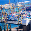 Port de Barcelona - logistics port — Stock Photo #30994357