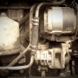 Vintage photo of tractor engine — Foto Stock