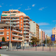 Street in mediterranean town. Badalona, Spain — Stock Photo